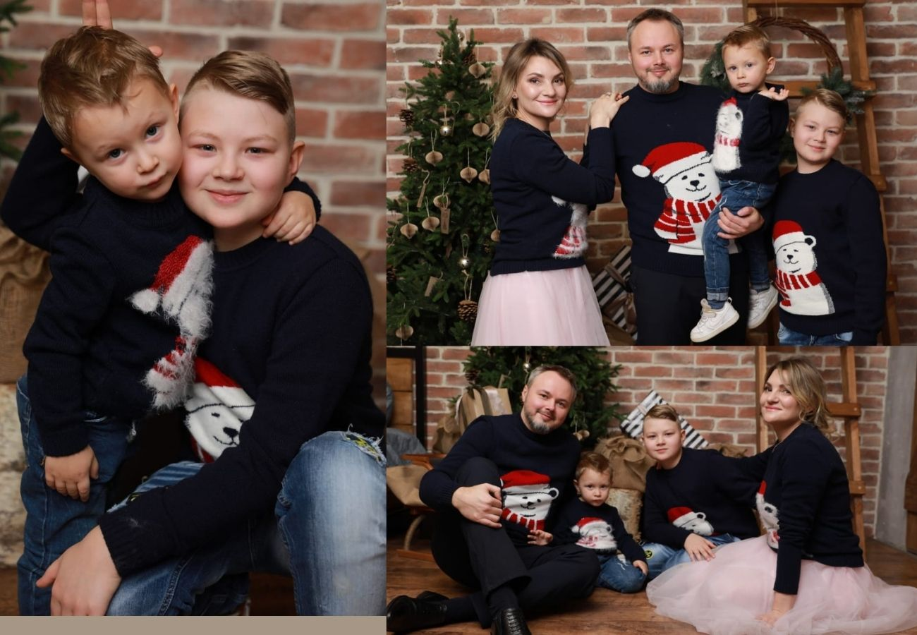 фотографии и отзывы покупателей odinakovaya.ru, одинаковые свитера для всей семьи, Family look, новогодний свитер